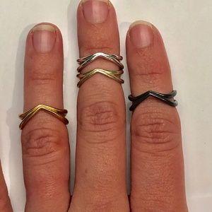 Kendra Scott Portia Midi Rings Multi-tone Set